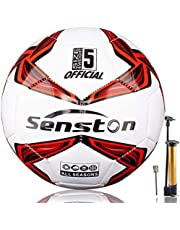 Senston X Crossing Soccer Ball Official Size 5 with Pump - Official Match Football Adults and Junior Kids Soccer Ball