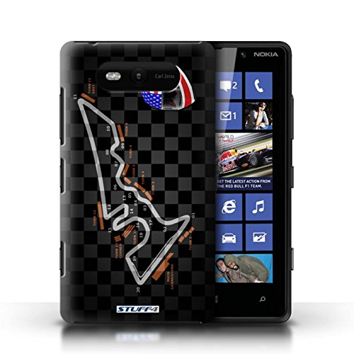 Etui / Coque pour Nokia Lumia 820 / USA/Austin conception / Collection de 2014 F1 Piste