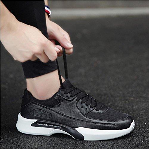 Scarpe da uomo scarpe da uomo scarpe da ginnastica scarpe da sci respirabile antiscivolo Scarpe casuali scarpe da uomo , Black , 44