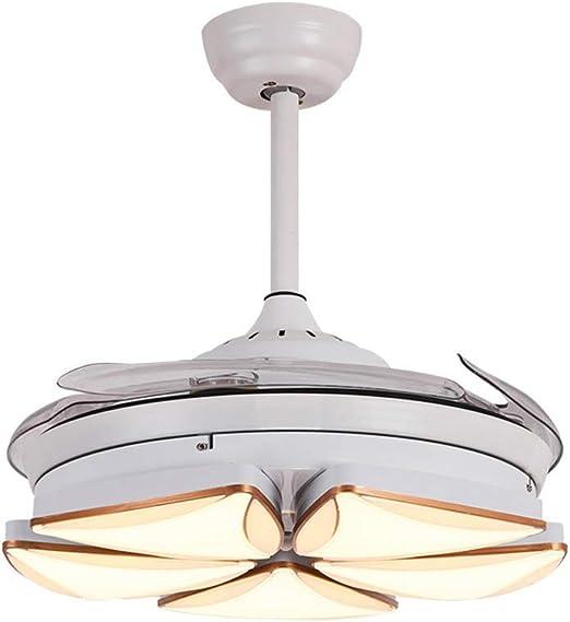 Luz de techo de la hoja del ventilador que se encoge, temporizador ...