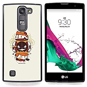 - Abstract Creature - - Cubierta del caso de impacto con el patr??n Art Designs FOR LG Volt 2 / LG G4 Mini (G4c) Queen Pattern