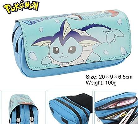 Kids Craze Reino Unido Vaporeon Pokemon Estuche Dos Compartimentos: Amazon.es: Oficina y papelería