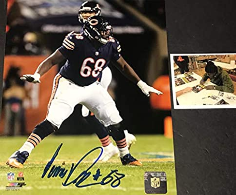 promo code f961a 619ff James Daniels Chicago Bears Autographed Signed 8x10 Blue at ...