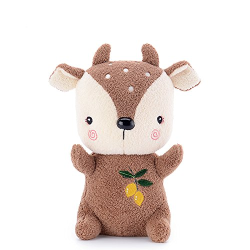 Doll Stuffed 8' Plush Toy (Me Too Sika Deer Plush Dolls Stuffed Cerf Animal Toys (Brown) 8'')