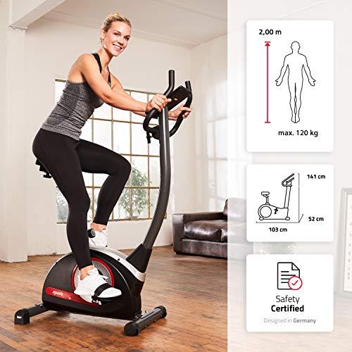 SportPlus SP-HT-9510-iE Bicicleta estática ergómetro para el hogar 9 kg de masa oscilante, bicicleta de interior con…