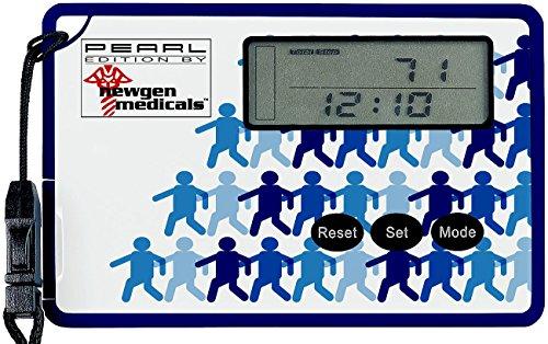 newgen medicals Digitaler Schrittzähler: Schrittzähler mit 3D-Sensor und Uhr, im Scheckkartenformat (Fitness Tracker mit 3D Sensoren)