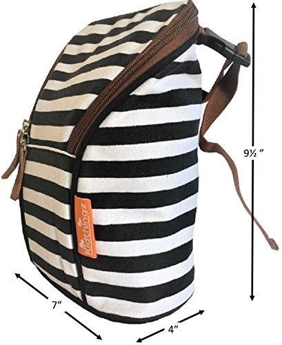 Kidthingz Double Bottle Bag Insulated- Easy to Take Anywhere Color Fast Treated, Looks Great for Baby Formula, Breast Milk, Sports Drink - Water Bottle Holder by Kidthingz (Image #6)