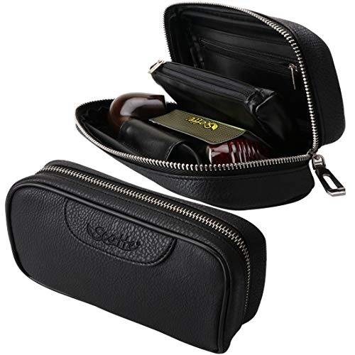 Scotte Leather pipe tobacco pouch/Tobacco pipe accessories bag holder 2 pipe ()