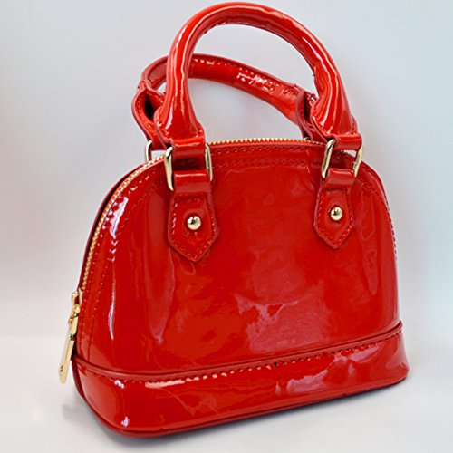 para al Meliya hombro Rojo Bolso de mujer Charol 5a88Xwpq