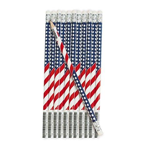 Wooden USA Flag Pencils