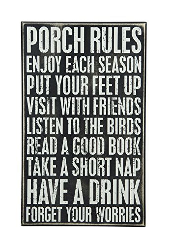 Primitives by Kathy Rustic Décor Box Sign, 16.5″ x 10″, Neutral Review