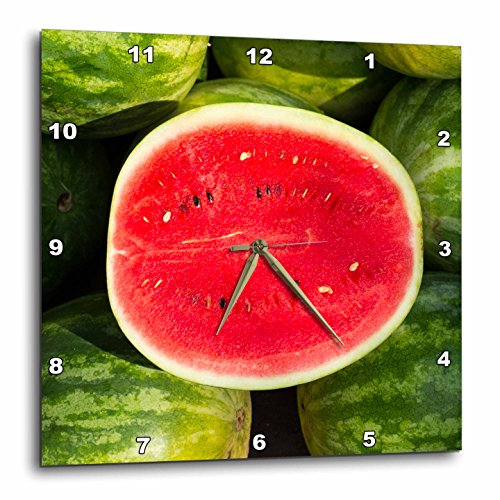 - 3D Rose Watermelon for Sale at a Farmers Market - Charleston - South Carolina Wall Clock, 15