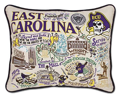 Catstudio- East Carolina University Embroidered Throw Pillow - 16