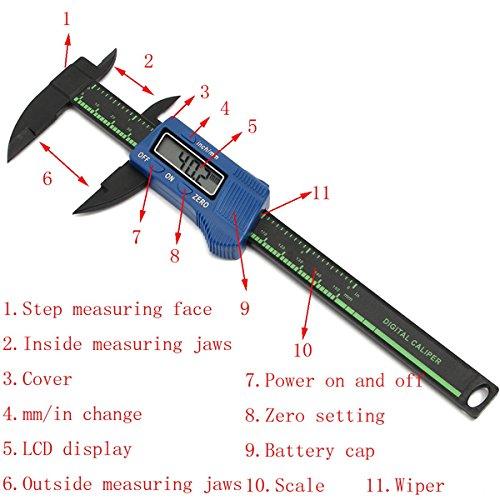 Price comparison product image 150mm 6inch LCD Digital Gauge Carbon Fiber Vernier Caliper Micrometer Tool