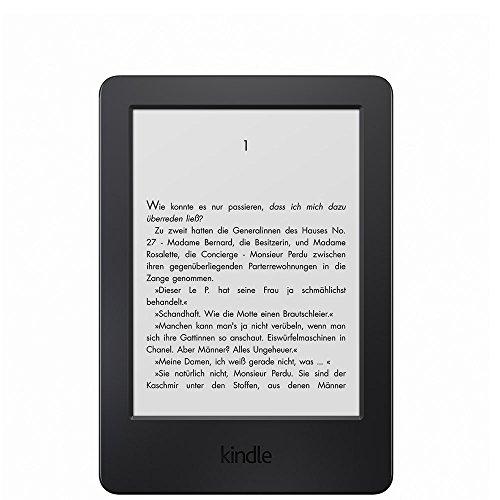 Kindle, (Zertifiziert und generalüberholt), 15,2 cm (6 Zoll) Touchscreen ohne Spiegeleffekte, WLAN (Schwarz) - mit Spezialangeboten