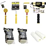 FasTrim Paint Roller, Edger, Ultimate Pro Kit, 27 Piece, 11 Position Adjustable Handle, 10mm Fiber Roller Cover