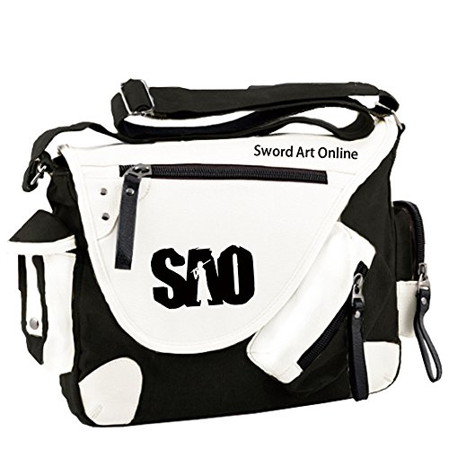 Siawasey Sword Art Online Anime Cosplay Backpack Messenger Bag Shoulder Bag