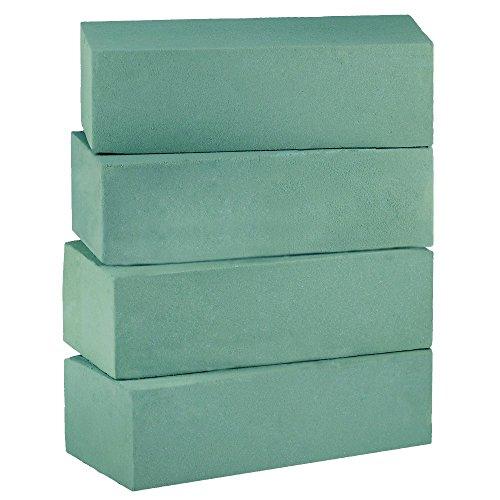 - Supla 4 Pcs Floral Foam Wet Floral Foam Blocks Green Fresh Floral Bricks Foam Floral Arrangement Foam Kit for Florist Floral Arrangement - 9