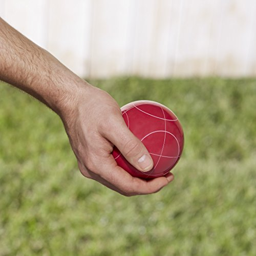 AmazonBasics Bocce Ball Set with Soft Carry Case