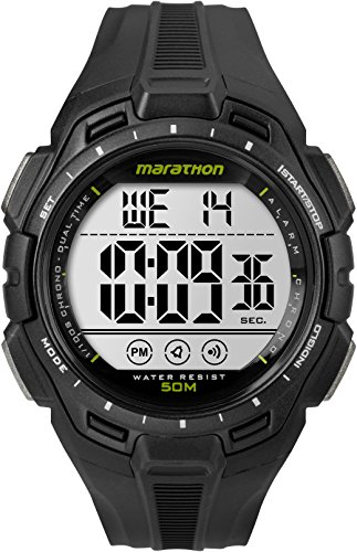 Marathon by Timex Men's TW5K94800 Digital Full-Size Black Resin Strap Watch (Black Strap Resin)