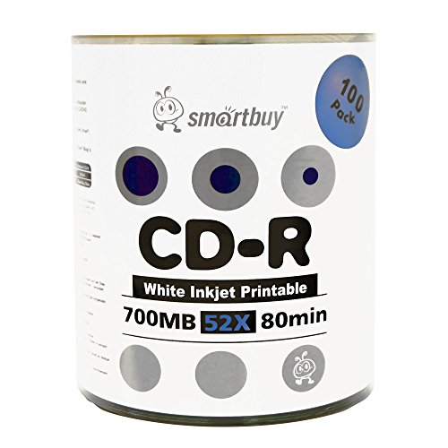 600 Disc Smart Buy White Top CD-R 600 Pack 700mb 52x Blank Recordable Discs 600pk