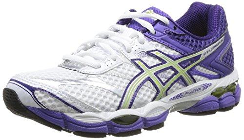 Asics Gel Cumulus 16 - Zapatillas de running para mujer, color Wht/Light/Purple Wht/Light/Purple