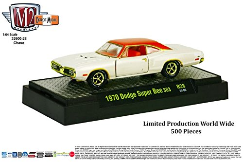 - Limited Edition Gold Chase Piece 1970 DODGE SUPER BEE 383 Detroit Muscle Release 28 M2 Machines 2014 Castline Premium Edition 1:64 Scale Die-Cast Vehicle & Display Case Set (1 of only 500 pieces)