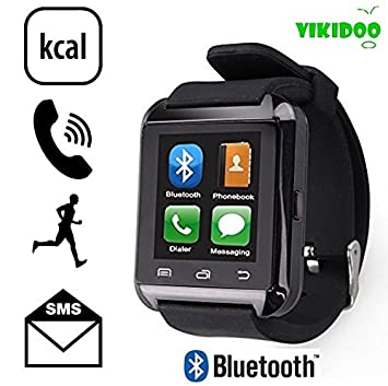 Smart Watch U8 Vikidoo Reloj Bluetooth táctil manos libres con iOS y Android: Amazon.es: Electrónica