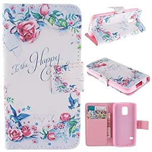 zxc Samsung Galaxy S5 Mini compatible Graphic/Special Design PU Leather Full Body Cases/Cases with Stand