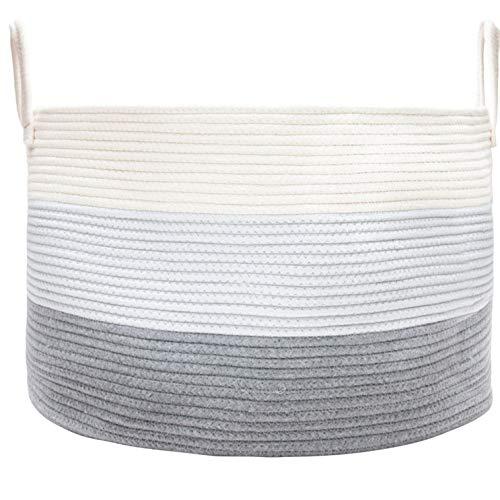 Storage Decorative Chest (OrganiHaus XXL Cotton Rope Basket | Wide 20