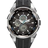 All Blacks - 680201 - Montre Homme - Quartz Analogique - Digital - Cadran Noir - Bracelet Plastique Noir