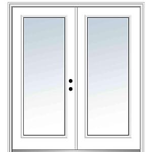 """National Door Company Z029483L Steel, Primed, Left Hand In-Swing, Exterior Prehung Door, Full Lite 72""""x80"""""""