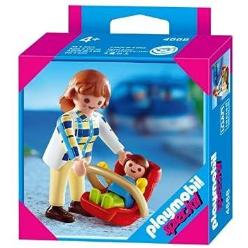 Playmobil 4668 Mamá especial con asiento de bebé: Amazon.es: Juguetes y juegos