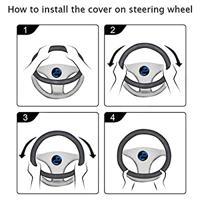 Universal Auto Car Steering Wheel Cover Medium 15inch (Purple): Automotive