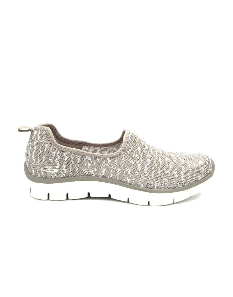 Skechers Relaxed Fit Empire Sweet Scene Womens Slip On Sneakers Taupe 6