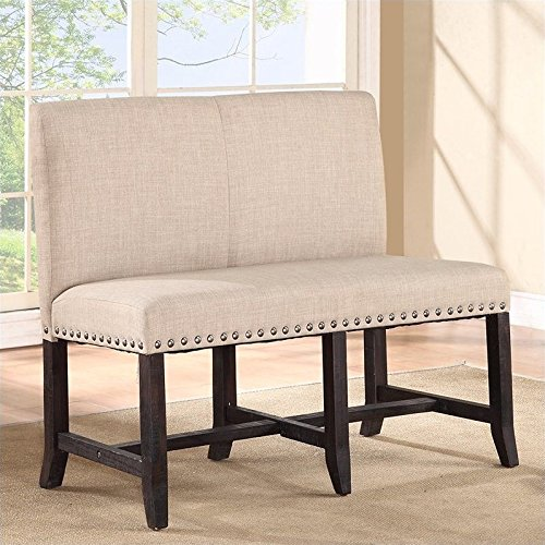 Modus Furniture 7YC969 Yosemite Solid Wood Dining Table Set, Black Pine (Seat Banquette Cushions)