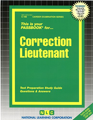 Correction Lieutenant(Passbooks)