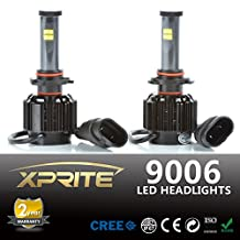 Xprite LED Headlight Conversion Kit Cover - 80W 7200LM XT-E Cree LED - Replaces Halogen and HID Bulbs - 9006 (HB4)
