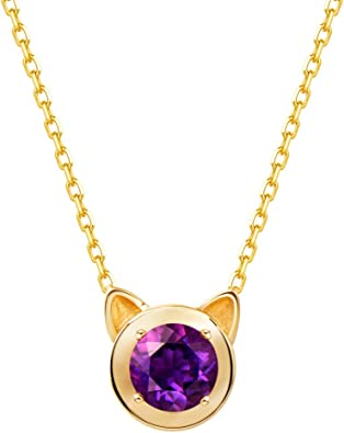 1.25 ct Round Pink Diamond Pedant 14K Yellow Gold Solitaire Halo Charm Necklace