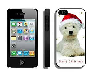 2014 New Style Christmas Dog For Ipod Touch 5 Case Cover 2 Black
