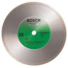 Bosch DB1066 Premium Plus 10-Inch Wet Cutting Continuous Rim Diamond Saw Blade with 5/8-Inch Arbor for Tile