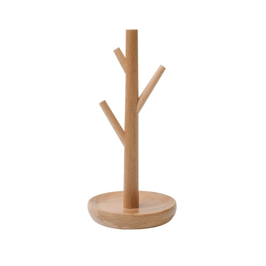 Homyl Unfinished Tree Creative Jewelry Stand Holder Earrings Wood Rack Modern Jewelry Display