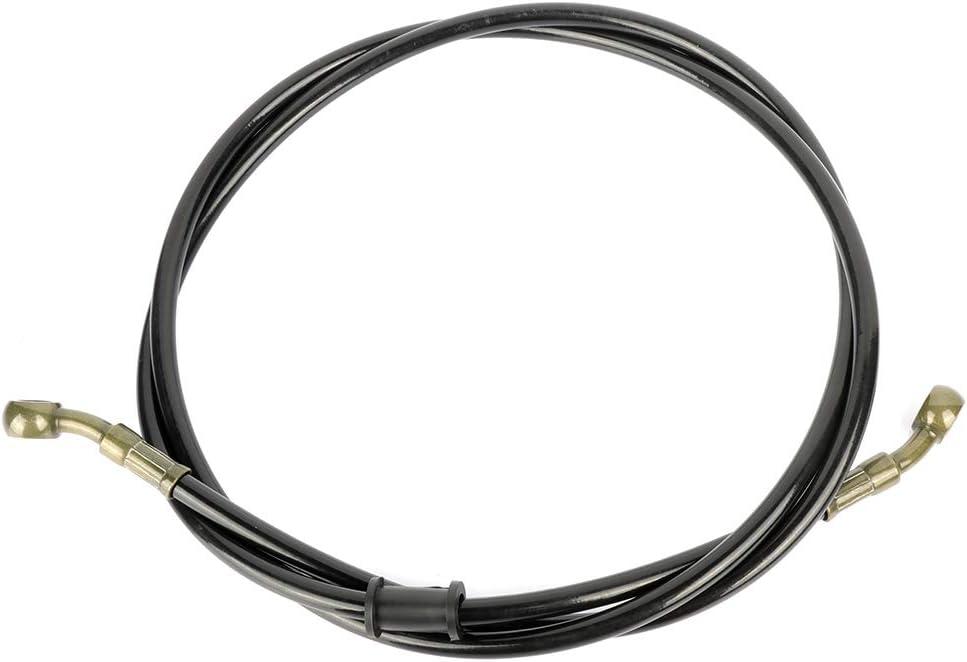 BRAKEUS Motorcycle Braided Steel Brake Clutch Oil Hoses Line Pipe black,1.5m