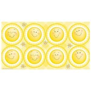 BirthdayExpress Little Sunshine Party Large Lollipop Sticker Sheet