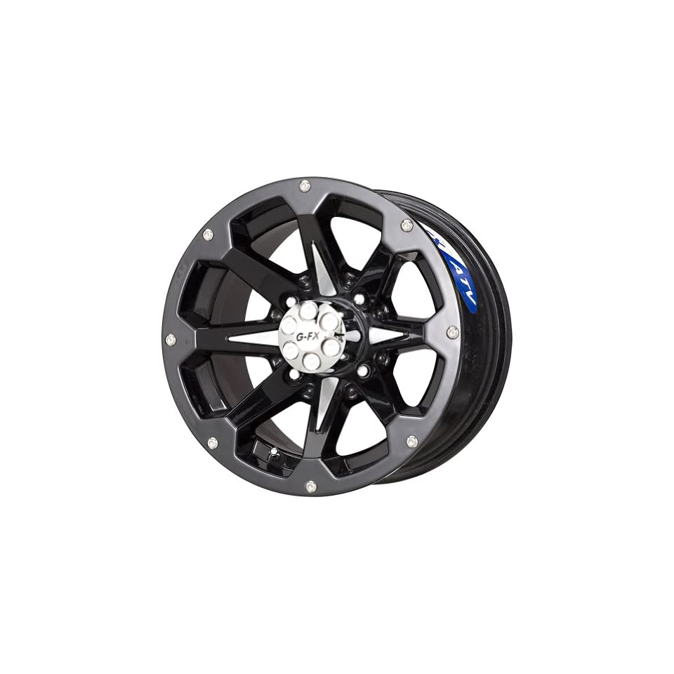 G FX Six Shooter Gloss Black Wheel with Machined Face (12x7/4x156mm)