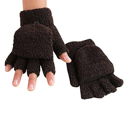 Shuohu Hand Wrist Gloves Coral Fleece Warmer Winter Fingerless Soft Gloves