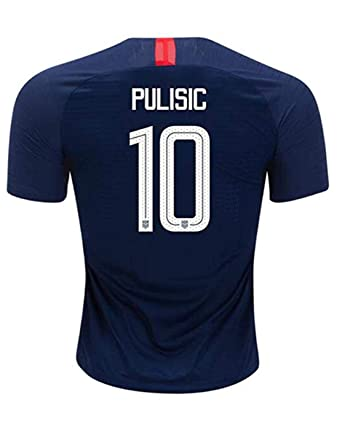 online store bdbdd cbb2b Amazon.com: Hsclxz Pulisic #10 USA Men's Away 18/19 Soccer ...