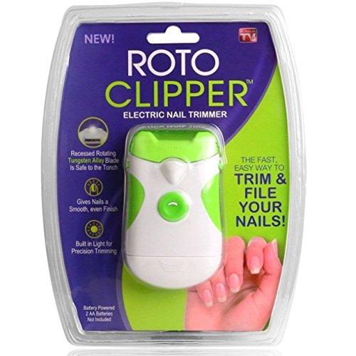 クリームと遊ぶ南極ROTO 電動 爪やすり 爪切り 巻き爪 ネイルケア 爪のトラブル 電池式 LEDライト付き 【並行輸入品】