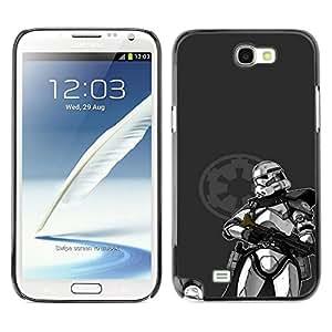 Caucho caso de Shell duro de la cubierta de accesorios de protección BY RAYDREAMMM - Samsung Note 2 N7100 - Estrella Trooper