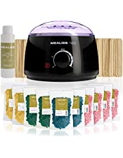 Wax ontharen • KIT MEALISS 120 • waxverwarmer • hars • 1KG afpelbare hypoallergene wax • kalmerende olie • spatels • Franse fabricatie • Epilatie lichaam bikinilijn en gezicht • Plastimea